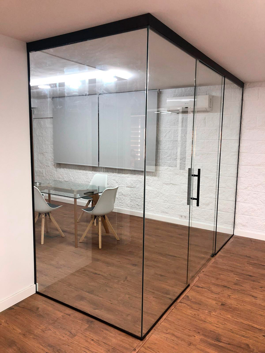 division de oficinas vidrio fijo 1